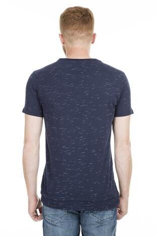 Five Pocket 5 Bisiklet Yaka Erkek T Shirt 8094 LACİVERT