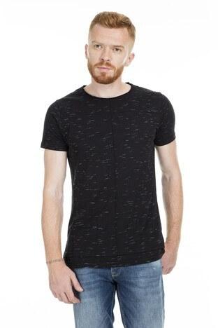 Five Pocket 5 Bisiklet Yaka Erkek T Shirt 8094 SİYAH