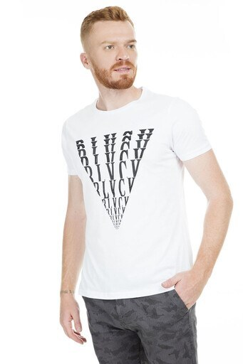 Five Pocket 5 Bisiklet Yaka Erkek T Shirt 8096 BEYAZ