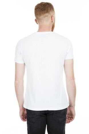 Five Pocket 5 Bisiklet Yaka Erkek T Shirt 8098 BEYAZ