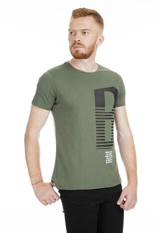 Five Pocket - Five Pocket 5 Bisiklet Yaka Erkek T Shirt 8098 HAKİ