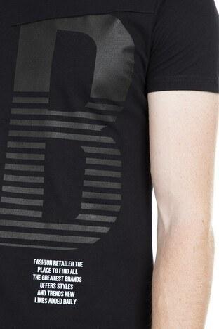 Five Pocket 5 Bisiklet Yaka Erkek T Shirt 8098 SİYAH