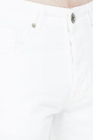 Five Pocket 5 Erkek Short 4016-F3497-MADRID BEYAZ