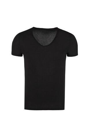 Five Pocket 5 /ANTRASİT MELANJ/L Erkek T Shirt 1071 SİYAH