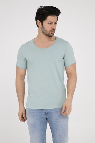 Five Pocket - Five Pocket 5 Erkek T Shirt 8032 MİNT-YEŞİL