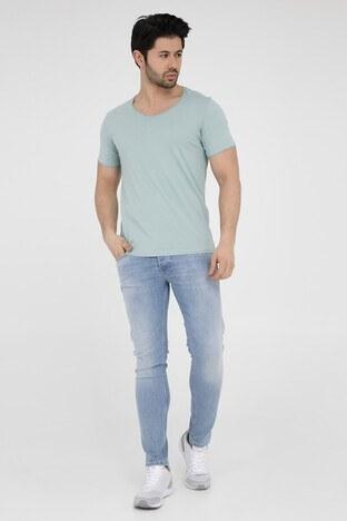 Five Pocket 5 Erkek T Shirt 8032 MİNT-YEŞİL