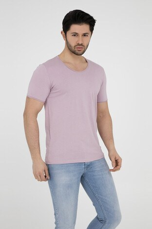 Five Pocket - Five Pocket 5 Erkek T Shirt 8032 PUDRA-PEMBE