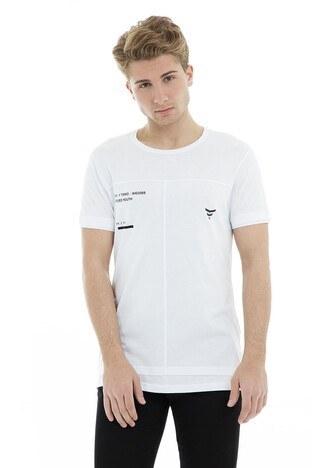 Five Pocket - Five Pocket 5 Erkek T Shirt 8043 BEYAZ