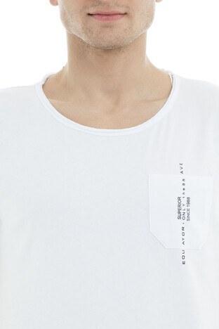 Five Pocket 5 Erkek T Shirt 8049 BEYAZ
