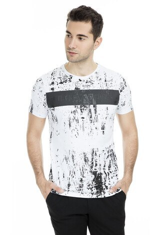Five Pocket - Five Pocket 5 Erkek T Shirt 8056 BEYAZ