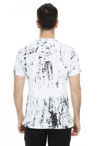 Five Pocket 5 Erkek T Shirt 8056 BEYAZ