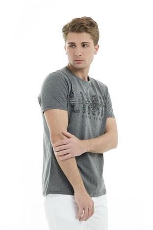 Five Pocket 5 Erkek T Shirt 8081 ANTRASİT MELANGE