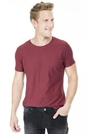 Five Pocket 5 Erkek T Shirt 8099 BORDO