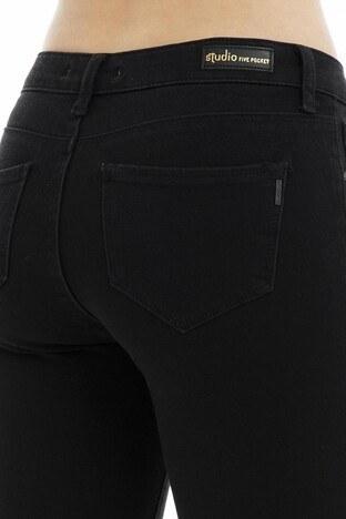 Five Pocket 5 Jeans Bayan Kot Pantolon 8501F282SANDRA SİYAH