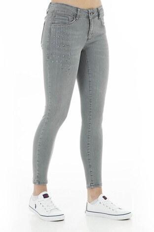Five Pocket 5 Jeans Bayan Kot Pantolon 8508F221SANDRA GRİ