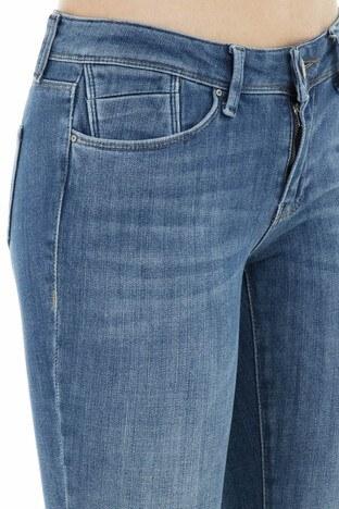 Five Pocket 5 Jeans Bayan Kot Pantolon 8513F3431SANDRA MAVİ