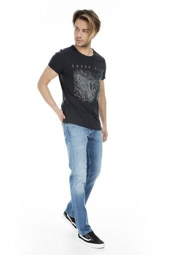 Five Pocket 5 Jeans Erkek Kot Pantolon 7124F1611PORTO AÇIK MAVİ