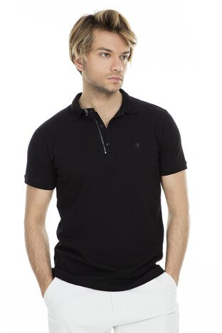 Five Pocket - Five Pocket 5 Polo Yaka Erkek T Shirt 8048 SİYAH