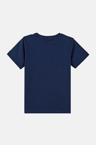 Forinns Pamuklu Baskılı Bisiklet Yaka Slim Fit Erkek Çocuk T Shirt F10EC 03221 İNDİGO