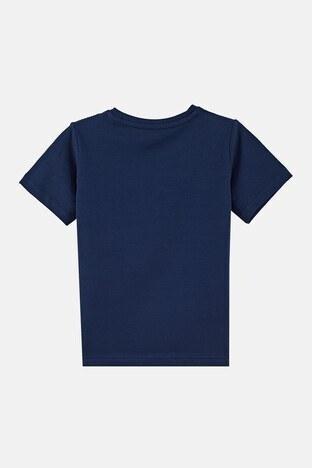 Forinns Pamuklu Baskılı Bisiklet Yaka Slim Fit Erkek Çocuk T Shirt F10EC 03227 İNDİGO