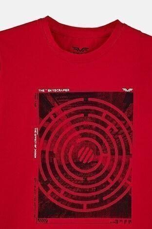 Forinns Pamuklu Baskılı Bisiklet Yaka Slim Fit Erkek Çocuk T Shirt F10EC 03231 FİESTA