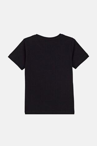Forinns Pamuklu Baskılı Bisiklet Yaka Slim Fit Erkek Çocuk T Shirt F10EC 03232 SİYAH