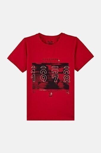 Forinns Pamuklu Baskılı Bisiklet Yaka Slim Fit Erkek Çocuk T Shirt F10EC 03233 FİESTA