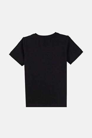 Forinns Pamuklu Baskılı Bisiklet Yaka Slim Fit Erkek Çocuk T Shirt F10EC 03235 SİYAH