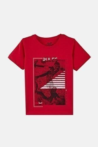 Forinns - Forinns Pamuklu Baskılı Bisiklet Yaka Slim Fit Erkek Çocuk T Shirt F10EC 03236 FİESTA