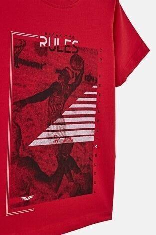 Forinns Pamuklu Baskılı Bisiklet Yaka Slim Fit Erkek Çocuk T Shirt F10EC 03236 FİESTA
