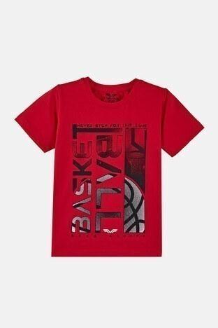Forinns - Forinns Pamuklu Baskılı Bisiklet Yaka Slim Fit Erkek Çocuk T Shirt F10EC 03237 FİESTA