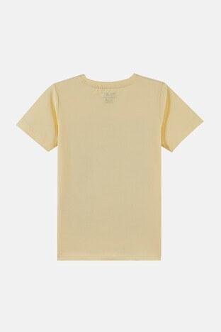 Forinns Pamuklu Baskılı Bisiklet Yaka Slim Fit Erkek Çocuk T Shirt F10EC 03237 SARI