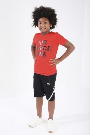 Forinns Pamuklu Baskılı Bisiklet Yaka Slim Fit Erkek Çocuk T Shirt F10EG 03227 FİESTA