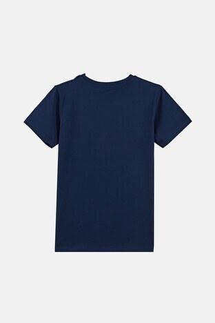 Forinns Pamuklu Baskılı Bisiklet Yaka Slim Fit Erkek Çocuk T Shirt F10EG 03231 İNDİGO