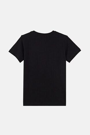 Forinns Pamuklu Baskılı Bisiklet Yaka Slim Fit Erkek Çocuk T Shirt F10EG 03231 SİYAH