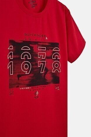 Forinns Pamuklu Baskılı Bisiklet Yaka Slim Fit Erkek Çocuk T Shirt F10EG 03233 FİESTA