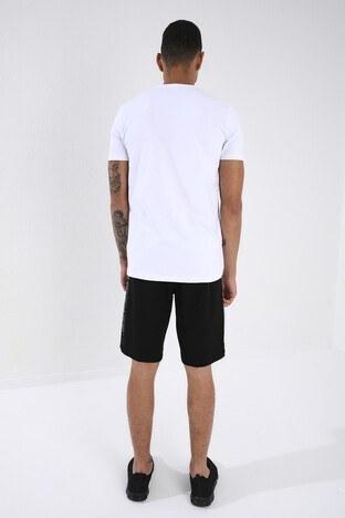 Forinns Pamuklu Slim Fit Bisiklet Yaka Erkek T Shirt F10ER-03155 BEYAZ