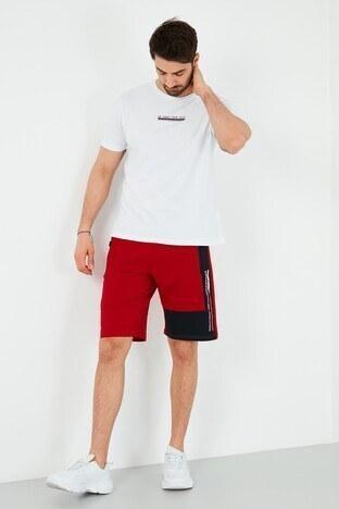 Forinns Pamuklu Slim Fit Cepli Erkek Short F10ER-03193 KIRMIZI