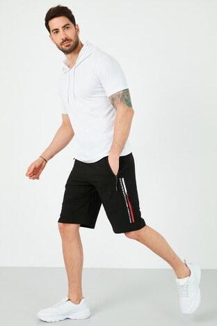 Forinns Pamuklu Slim Fit Cepli Erkek Short F10ER-03193 SİYAH