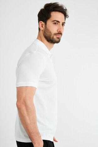 Forinns Slim Fit Pamuklu Düğmeli T Shirt Erkek Polo F10ER-03183 BEYAZ