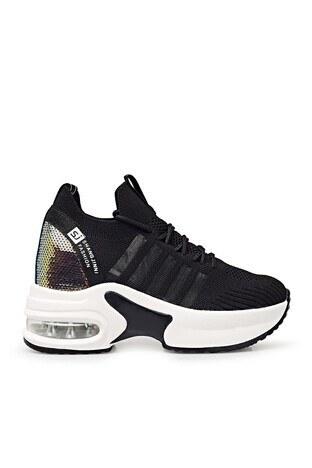 Guja - Guja Yüksek Taban Sneaker Bayan Ayakkabı 38921Y300 SİYAH