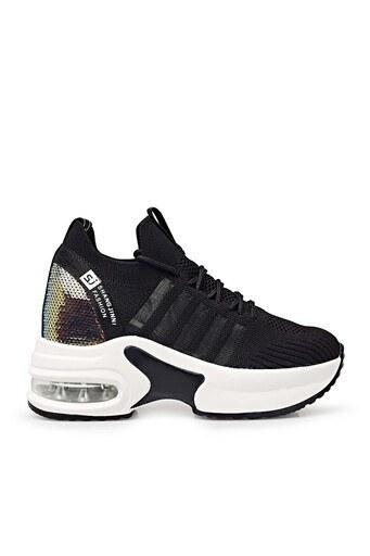 Guja Yüksek Taban Sneaker Bayan Ayakkabı 38921Y300 SİYAH