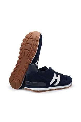 Hammer Jack Hakiki Deri Günlük Spor Erkek Ayakkabı 101 20028-M LACİVERT-BEYAZ