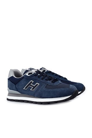 Hammer Jack Hakiki Deri Peru Bayan Ayakkabı 102 19250-G Koyu İndigo-Mavi