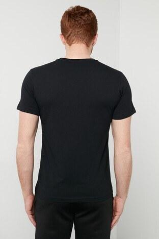 Hummel Baskılı Bisiklet Yaka % 100 Pamuk Erkek T Shirt 911301-2001 SİYAH