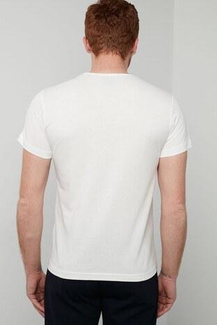 Hummel Baskılı Bisiklet Yaka % 100 Pamuk Erkek T Shirt 911301-9003 KREM