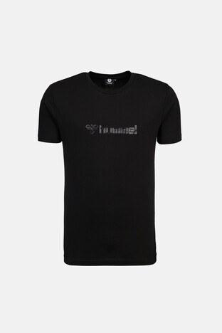 Hummel - Hummel Baskılı Bisiklet Yaka % 100 Pamuk Erkek T Shirt 911303-2001 SİYAH