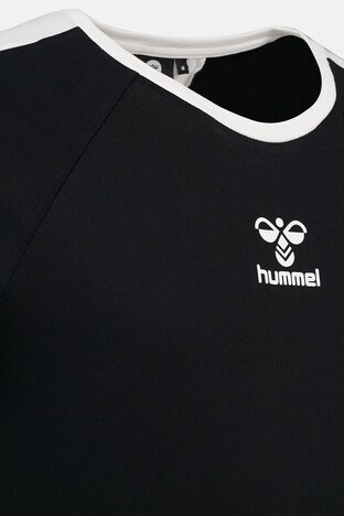 Hummel Baskılı Bisiklet Yaka % 100 Pamuk Erkek T Shirt 911317-2001 SİYAH