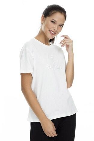 Hummel Wally Kadın T Shirt 910833-9003 KREM