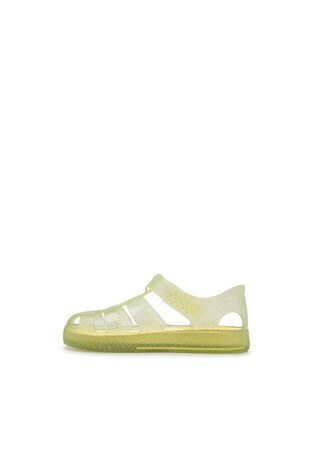 Igor Star Glitter Kaydırmaz Havuz ve Deniz Sandale Unisex Çocuk Sandalet S10265 SARI